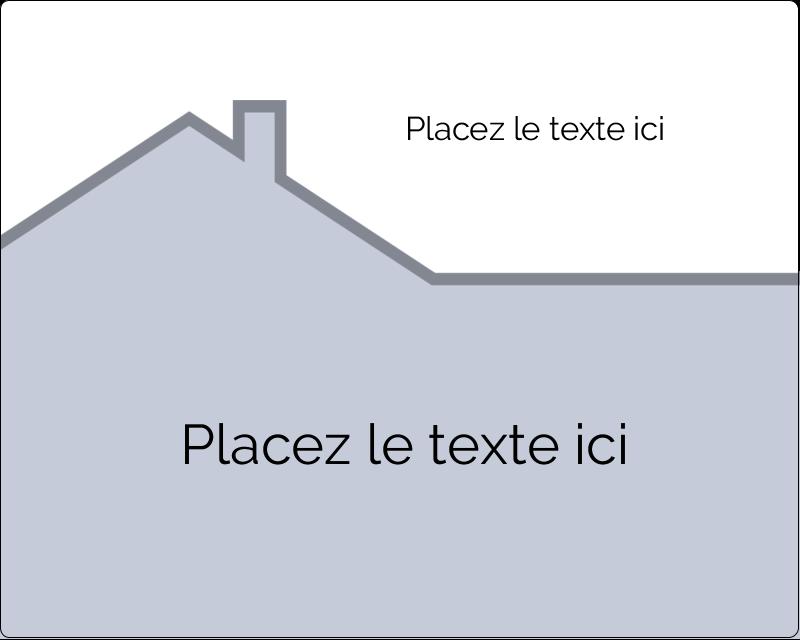 """3"""" x 3¾"""" Étiquettes rectangulaires - Construction de maison"""