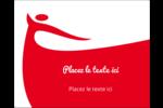 Danseuse rouge Étiquettes rectangulaires - gabarit prédéfini. <br/>Utilisez notre logiciel Avery Design & Print Online pour personnaliser facilement la conception.