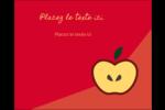 Pomme rouge Étiquettes rectangulaires - gabarit prédéfini. <br/>Utilisez notre logiciel Avery Design & Print Online pour personnaliser facilement la conception.