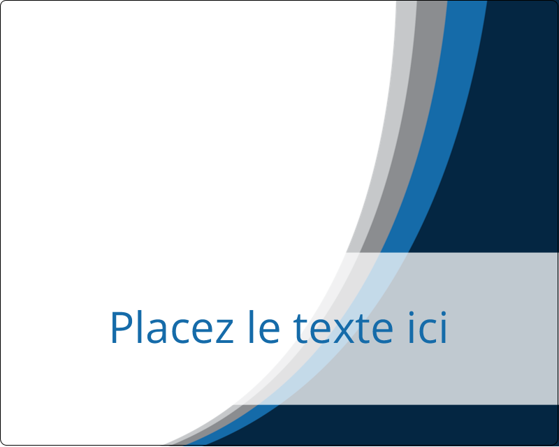 "3"" x 3¾"" Étiquettes rectangulaires - Vague bleue"