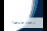 Vague bleue Étiquettes rectangulaires - gabarit prédéfini. <br/>Utilisez notre logiciel Avery Design & Print Online pour personnaliser facilement la conception.