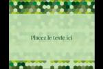 Hexagones verts Étiquettes rectangulaires - gabarit prédéfini. <br/>Utilisez notre logiciel Avery Design & Print Online pour personnaliser facilement la conception.