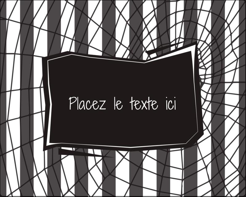 """3"""" x 3¾"""" Étiquettes rectangulaires - Toile d'araignée Beetlejuice"""