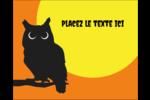 Chouette d'Halloween Étiquettes rectangulaires - gabarit prédéfini. <br/>Utilisez notre logiciel Avery Design & Print Online pour personnaliser facilement la conception.