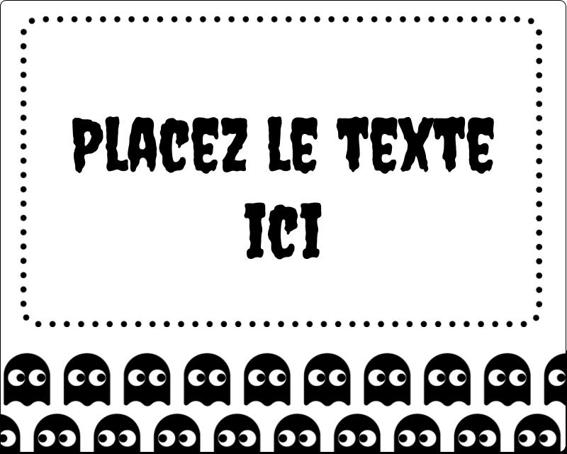 """3"""" x 3¾"""" Étiquettes rectangulaires - Fantômes Pac-Man d'Halloween"""
