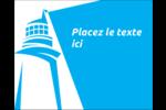 Phare bleu Étiquettes rectangulaires - gabarit prédéfini. <br/>Utilisez notre logiciel Avery Design & Print Online pour personnaliser facilement la conception.