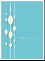 """4¾"""" x 3½"""" Étiquettes rectangulaires - Rideau de perles bleues"""
