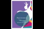 Danse en couleur Étiquettes rectangulaires - gabarit prédéfini. <br/>Utilisez notre logiciel Avery Design & Print Online pour personnaliser facilement la conception.
