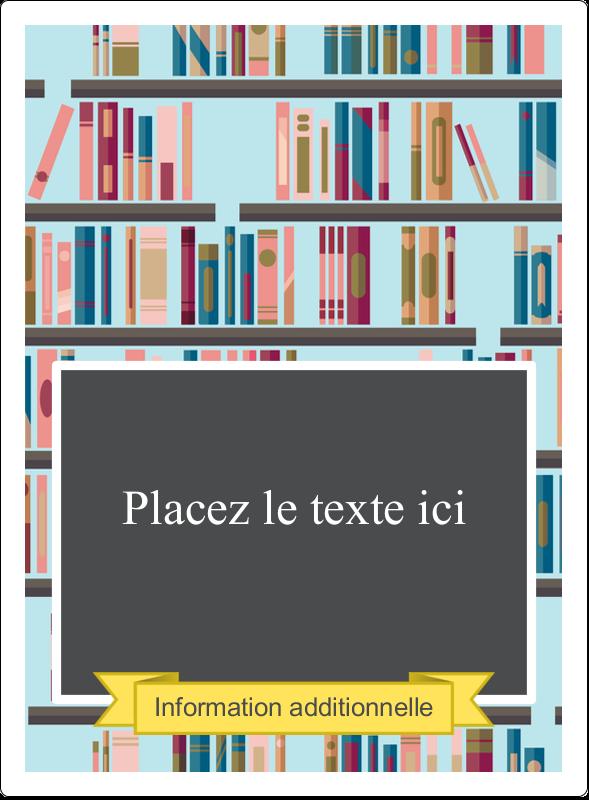 """4¾"""" x 3½"""" Étiquettes rectangulaires - Rayons de bibliothèque"""