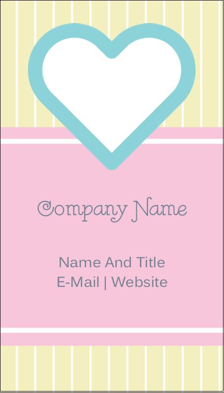 """3½"""" x 2"""" Business Card - Blue Heart"""