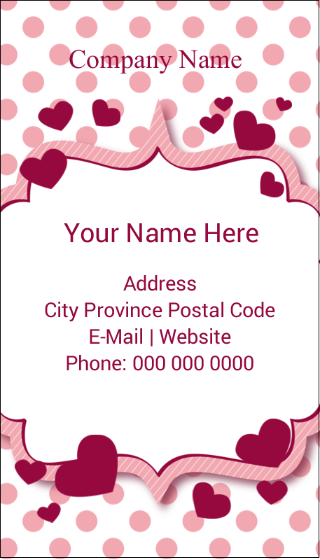 "3½"" x 2"" Business Card - Valentine Bubbles"