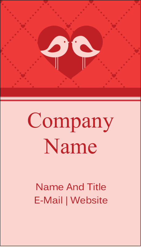 "3½"" x 2"" Business Card - Love Birds"