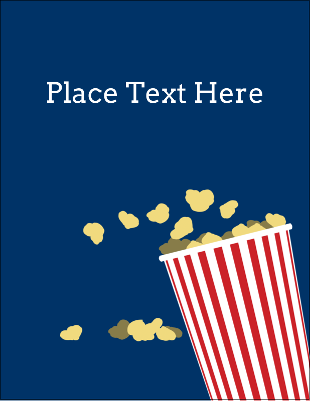 "5½"" x 4¼"" Postcard - Movie Popcorn"