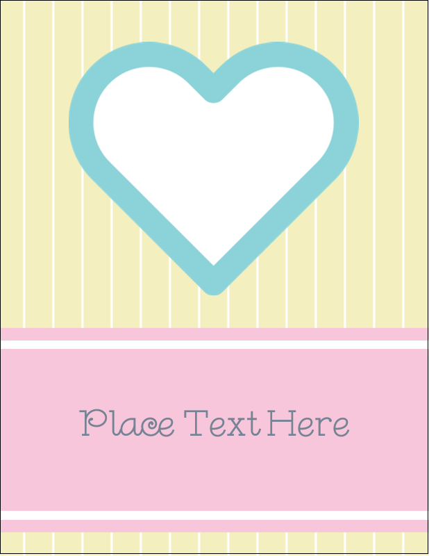 "5½"" x 4¼"" Postcard - Blue Heart"