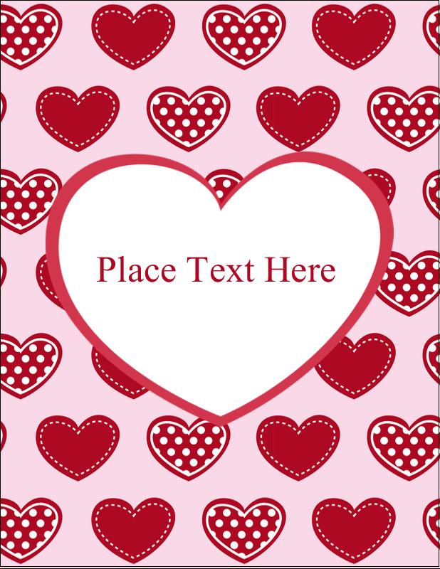 "5½"" x 4¼"" Postcard - Valentine Heart Pattern"