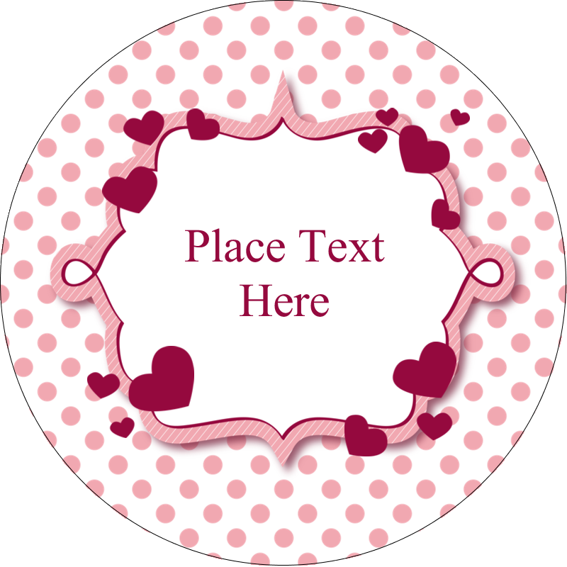 "3"" Round Label - Valentine Bubbles"