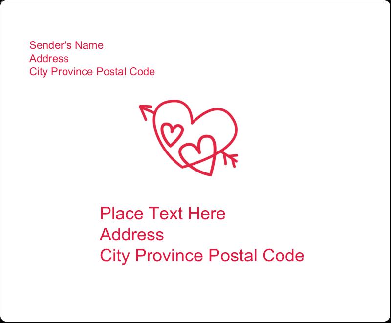 "3⅓"" x 4"" Shipping Label - Valentine Drawn"