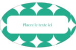 Cercles vert sarcelle Étiquettes ovales - gabarit prédéfini. <br/>Utilisez notre logiciel Avery Design & Print Online pour personnaliser facilement la conception.