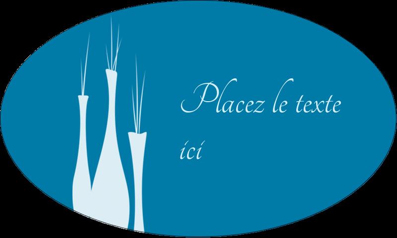 """1½"""" x 2½"""" Étiquettes ovales - Vase design d'intérieur"""