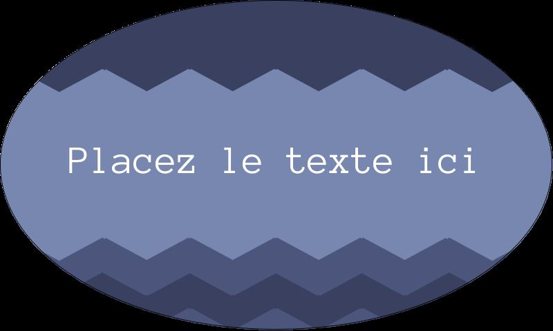 """1½"""" x 2½"""" Étiquettes ovales - Chevron bleu"""