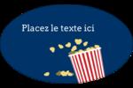Popcorn et film Étiquettes ovales - gabarit prédéfini. <br/>Utilisez notre logiciel Avery Design & Print Online pour personnaliser facilement la conception.
