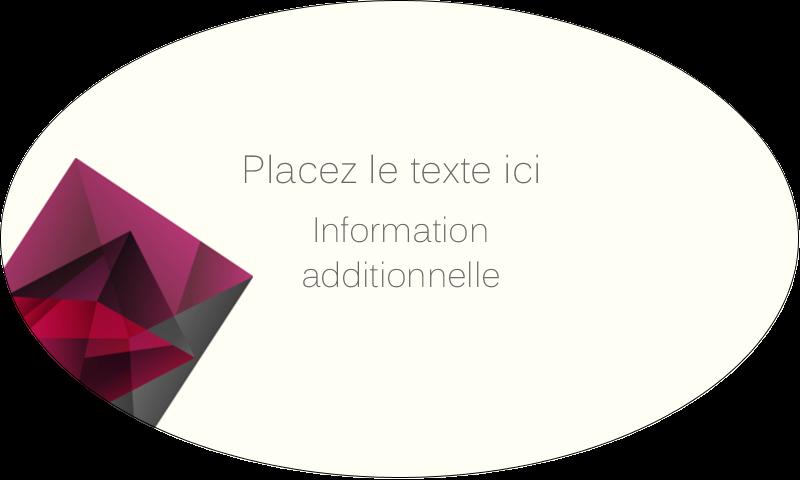 """1½"""" x 2½"""" Étiquettes ovales - Pierres de rubis"""