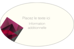 Pierres de rubis  Étiquettes ovales - gabarit prédéfini. <br/>Utilisez notre logiciel Avery Design & Print Online pour personnaliser facilement la conception.