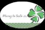 Trèfle de la Saint-Patrick Étiquettes ovales - gabarit prédéfini. <br/>Utilisez notre logiciel Avery Design & Print Online pour personnaliser facilement la conception.
