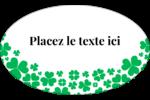 Pluie de trèfles de la Saint-Patrick Étiquettes ovales - gabarit prédéfini. <br/>Utilisez notre logiciel Avery Design & Print Online pour personnaliser facilement la conception.