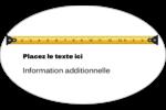 Ruban à mesurer Étiquettes ovales - gabarit prédéfini. <br/>Utilisez notre logiciel Avery Design & Print Online pour personnaliser facilement la conception.