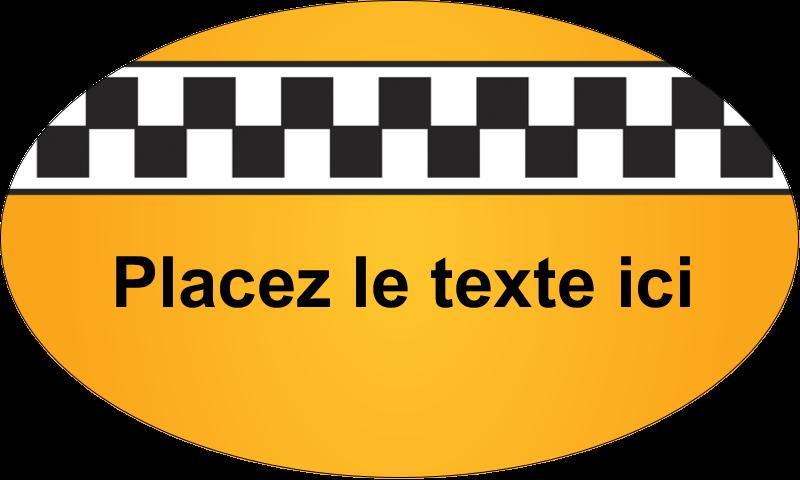 """1½"""" x 2½"""" Étiquettes ovales - Échiquier taxi"""