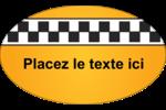 Échiquier taxi Étiquettes ovales - gabarit prédéfini. <br/>Utilisez notre logiciel Avery Design & Print Online pour personnaliser facilement la conception.