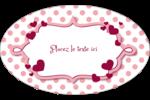 Bulles de Saint-Valentin Étiquettes ovales - gabarit prédéfini. <br/>Utilisez notre logiciel Avery Design & Print Online pour personnaliser facilement la conception.