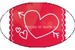 Dessin de la Saint-Valentin Étiquettes ovales - gabarit prédéfini. <br/>Utilisez notre logiciel Avery Design & Print Online pour personnaliser facilement la conception.
