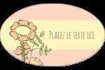 Dessin floral Étiquettes ovales - gabarit prédéfini. <br/>Utilisez notre logiciel Avery Design & Print Online pour personnaliser facilement la conception.