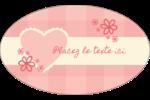 Guingan de la Saint-Valentin Étiquettes ovales - gabarit prédéfini. <br/>Utilisez notre logiciel Avery Design & Print Online pour personnaliser facilement la conception.