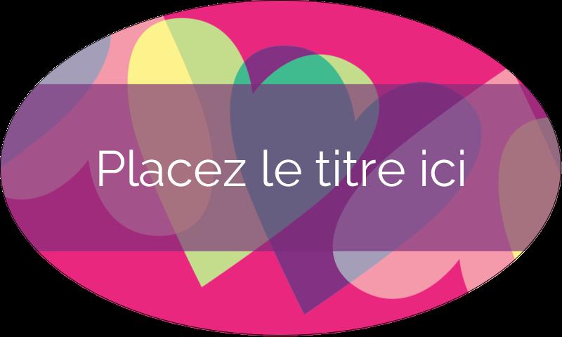 """1½"""" x 2½"""" Étiquettes ovales - Rang de cœurs de la Saint-Valentin"""