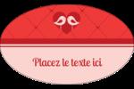Oiseaux amoureux Étiquettes ovales - gabarit prédéfini. <br/>Utilisez notre logiciel Avery Design & Print Online pour personnaliser facilement la conception.