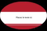 Barres de rangement rouges Étiquettes ovales - gabarit prédéfini. <br/>Utilisez notre logiciel Avery Design & Print Online pour personnaliser facilement la conception.