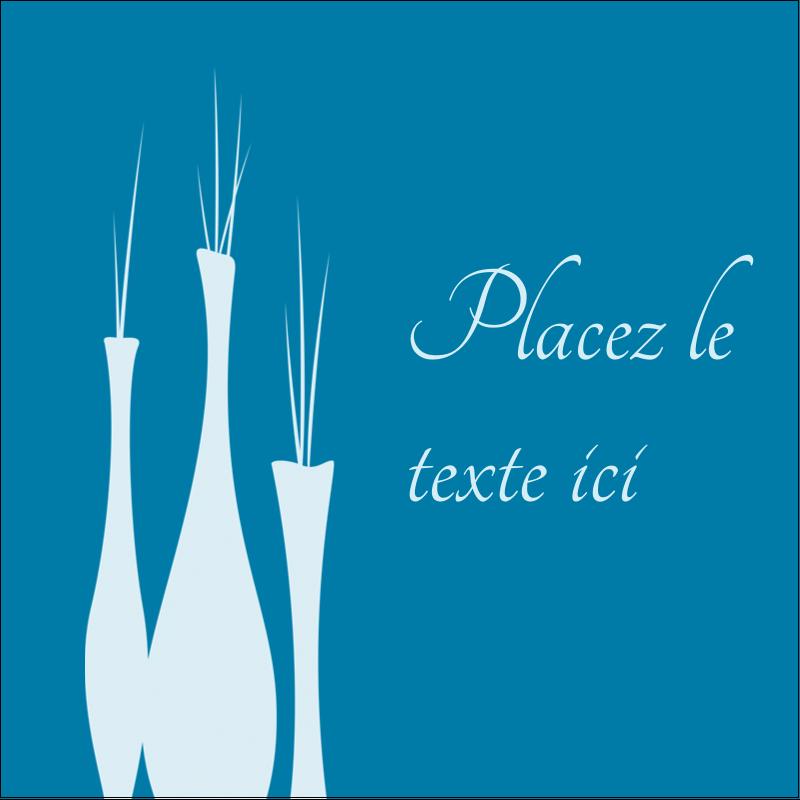 """1½"""" x 1½"""" Étiquettes carrées - Vase design d'intérieur"""