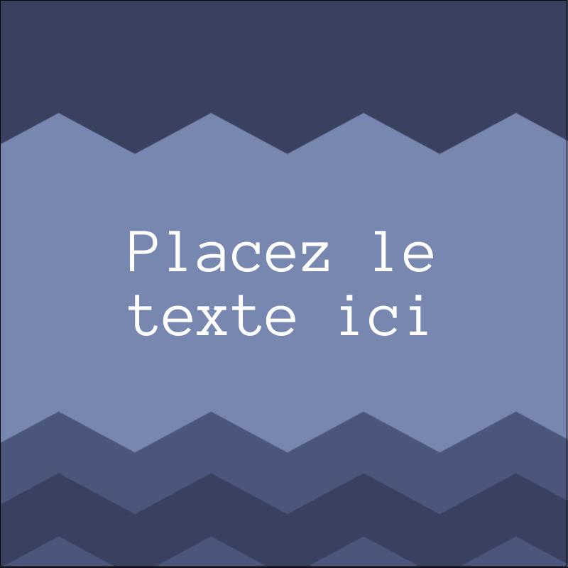 """1½"""" x 1½"""" Étiquettes carrées - Chevron bleu"""