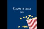 Popcorn et film Étiquettes carrées - gabarit prédéfini. <br/>Utilisez notre logiciel Avery Design & Print Online pour personnaliser facilement la conception.