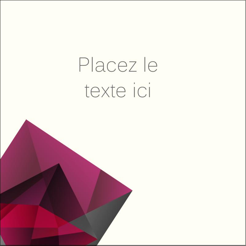 """1½"""" x 1½"""" Étiquettes carrées - Pierres de rubis"""