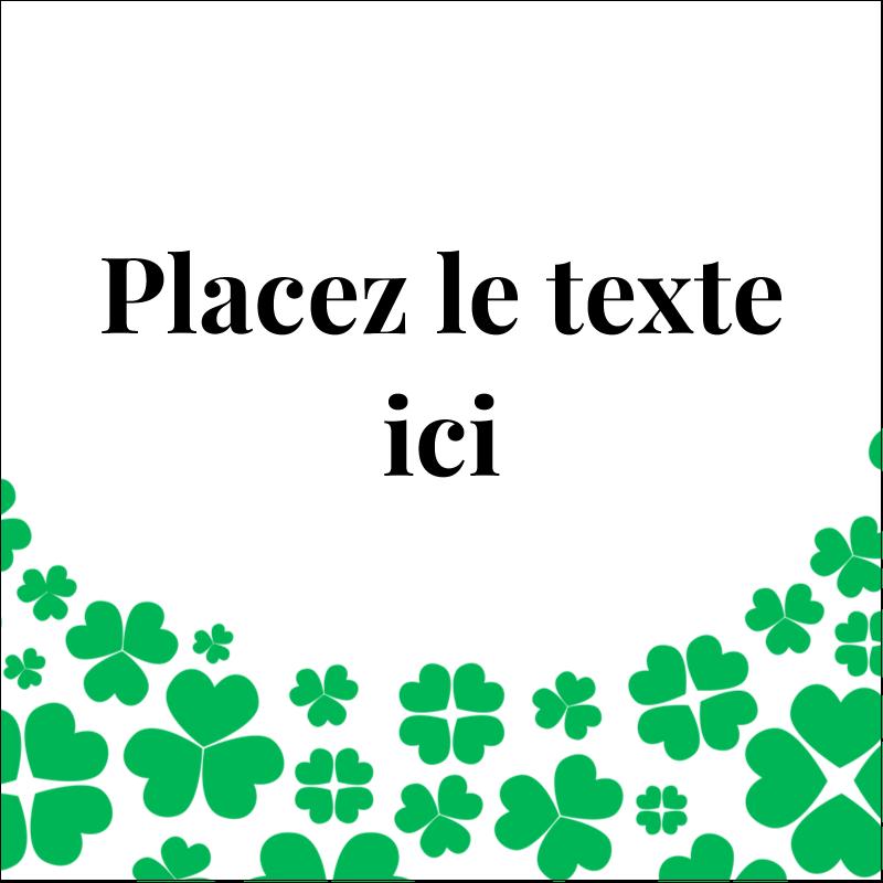 """1½"""" x 1½"""" Étiquettes carrées - Pluie de trèfles de la Saint-Patrick"""