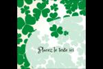 Arrière-plan de trèfles de la Saint-Patrick Étiquettes carrées - gabarit prédéfini. <br/>Utilisez notre logiciel Avery Design & Print Online pour personnaliser facilement la conception.