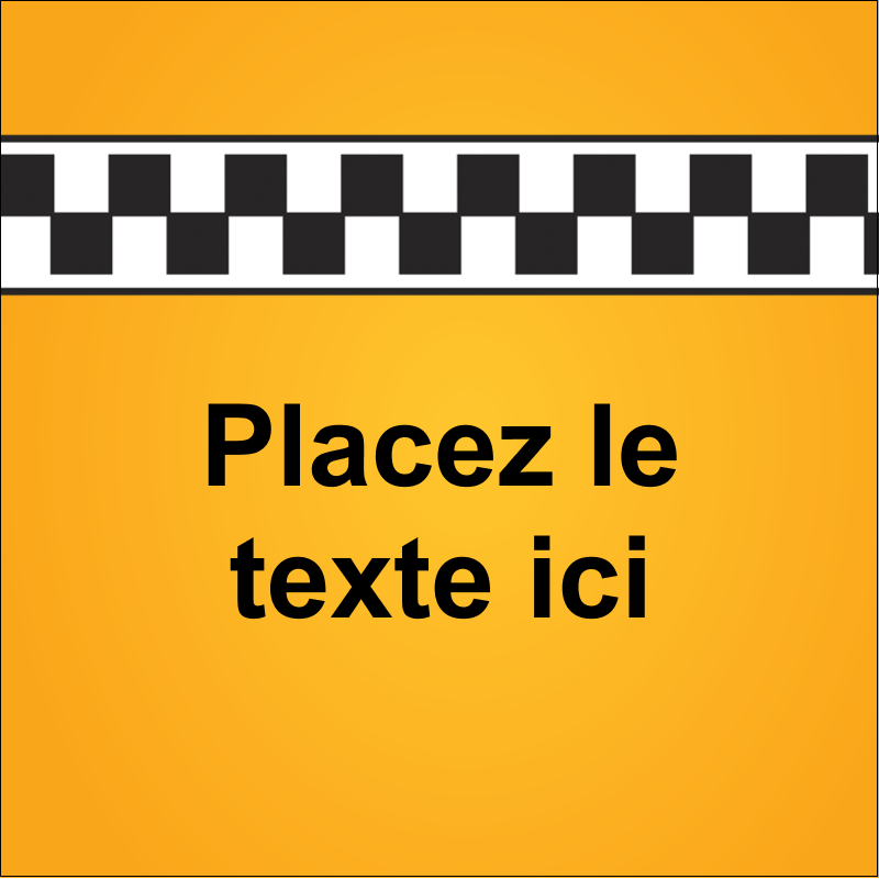 """1½"""" x 1½"""" Étiquettes carrées - Échiquier taxi"""
