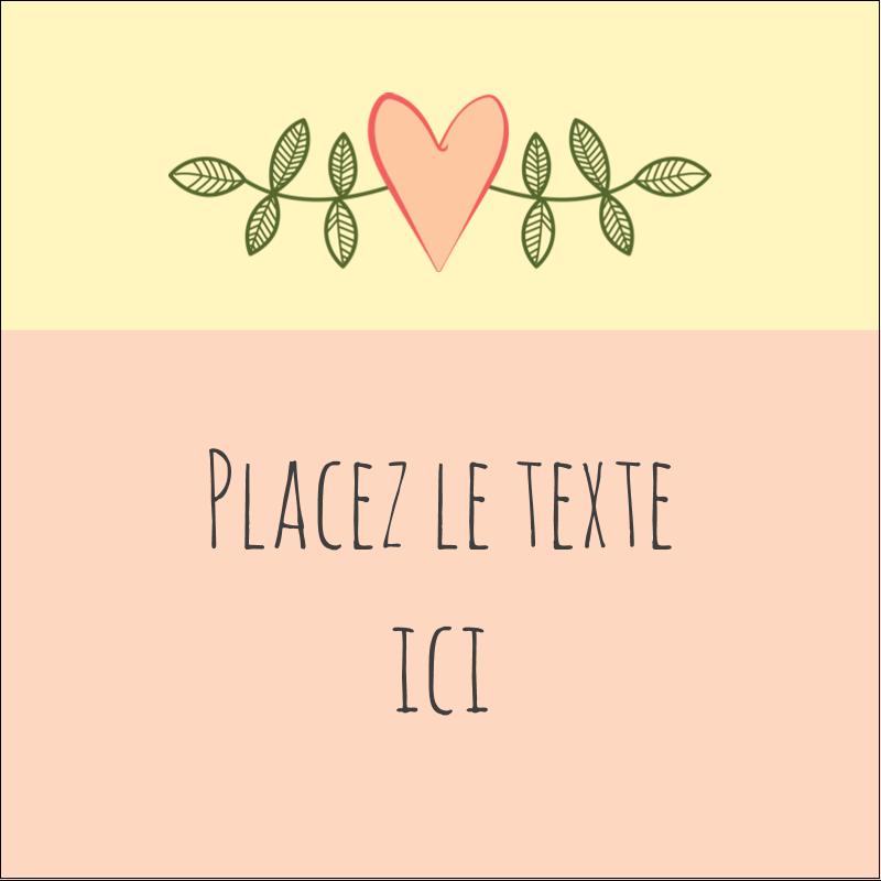"""1½"""" x 1½"""" Étiquettes carrées - Dessin floral"""