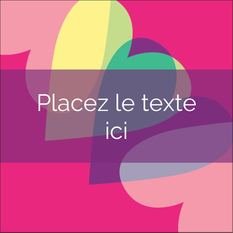 """1½"""" x 1½"""" Étiquettes carrées - Rang de cœurs de la Saint-Valentin"""