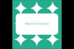 Cercles vert sarcelle Étiquettes carrées - gabarit prédéfini. <br/>Utilisez notre logiciel Avery Design & Print Online pour personnaliser facilement la conception.