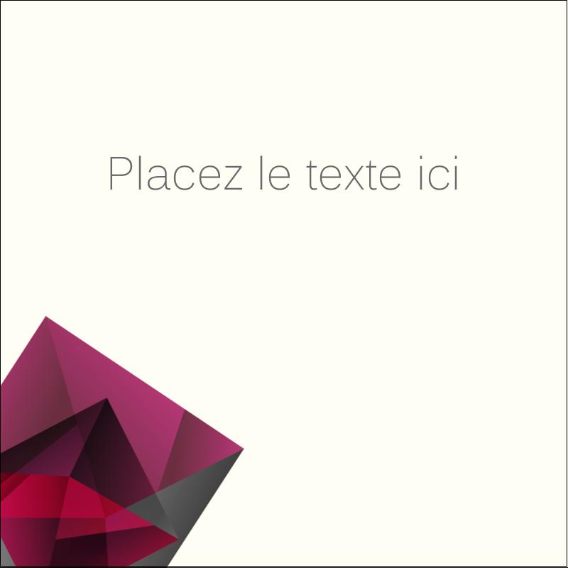 """2"""" x 2"""" Étiquettes carrées - Pierres de rubis"""